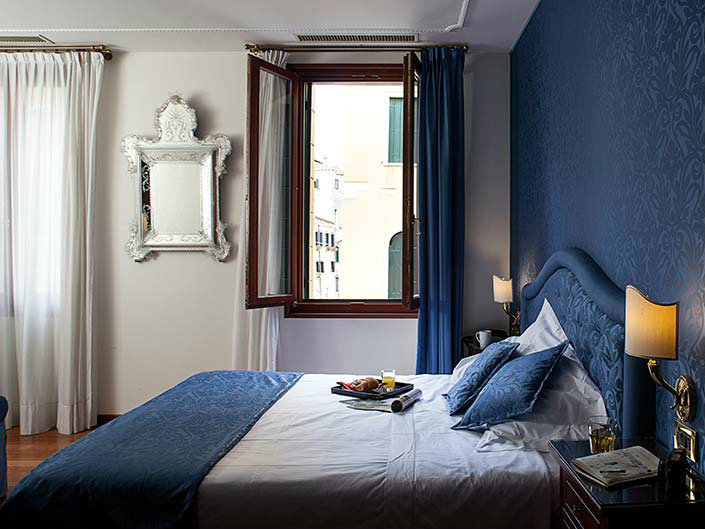 Valentine's Day in Venice: Room Service in our Deluxe room with canal view