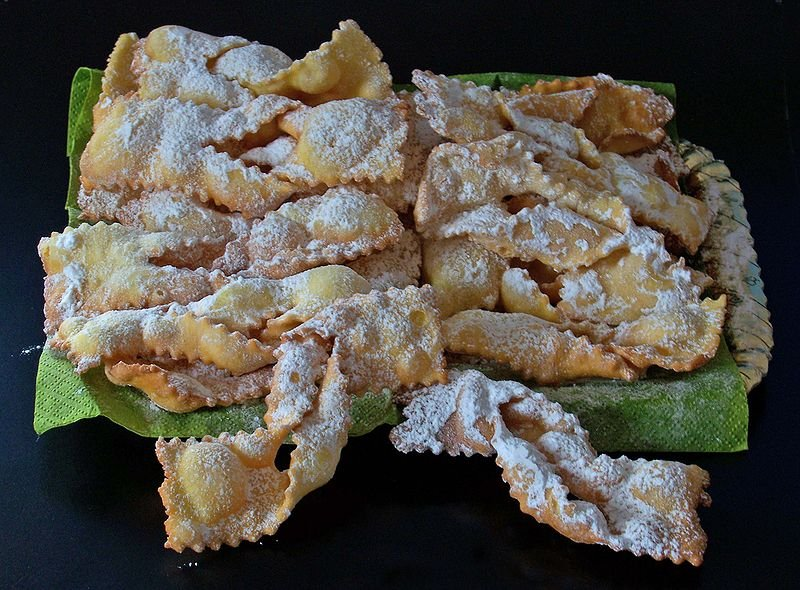 Traditional Venetian Carnival food